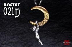 月とロビン ペンダント